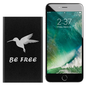 Power Bank with Hummingbird