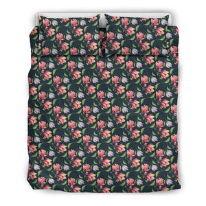 Floral Duvet Cover - Green