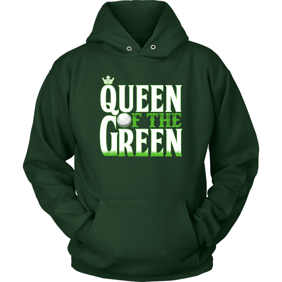 hoodie golf dark green queen of the green