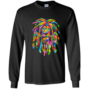 Rasta Lion T-Shirt Long Sleeves black