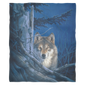 fleece blanket Wolf Moonshine