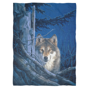 wolf fleece throw blanket  algarve online shop
