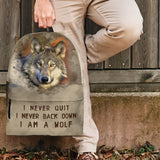 Wolf Back Pack I am a wolf