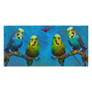 Budgie Beach Towel