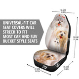 Car Seat Covers - Maltese Dog