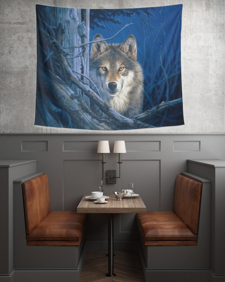 Wolf tapestry- Moonshine bar
