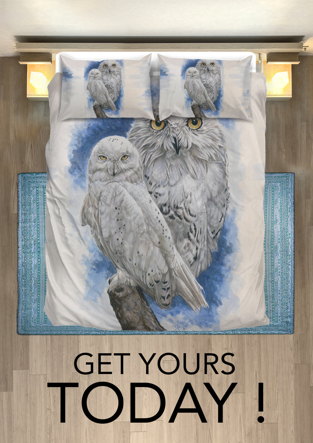 owl bedding- advertising