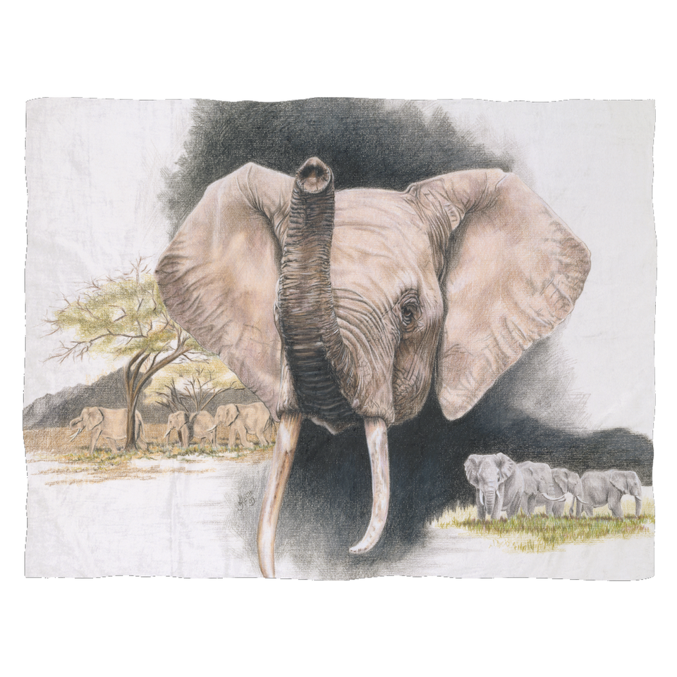 Elephant Fleece Blanket