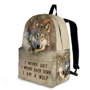 backpack I am a Wolf