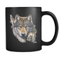 wolf mug black algarve online shop