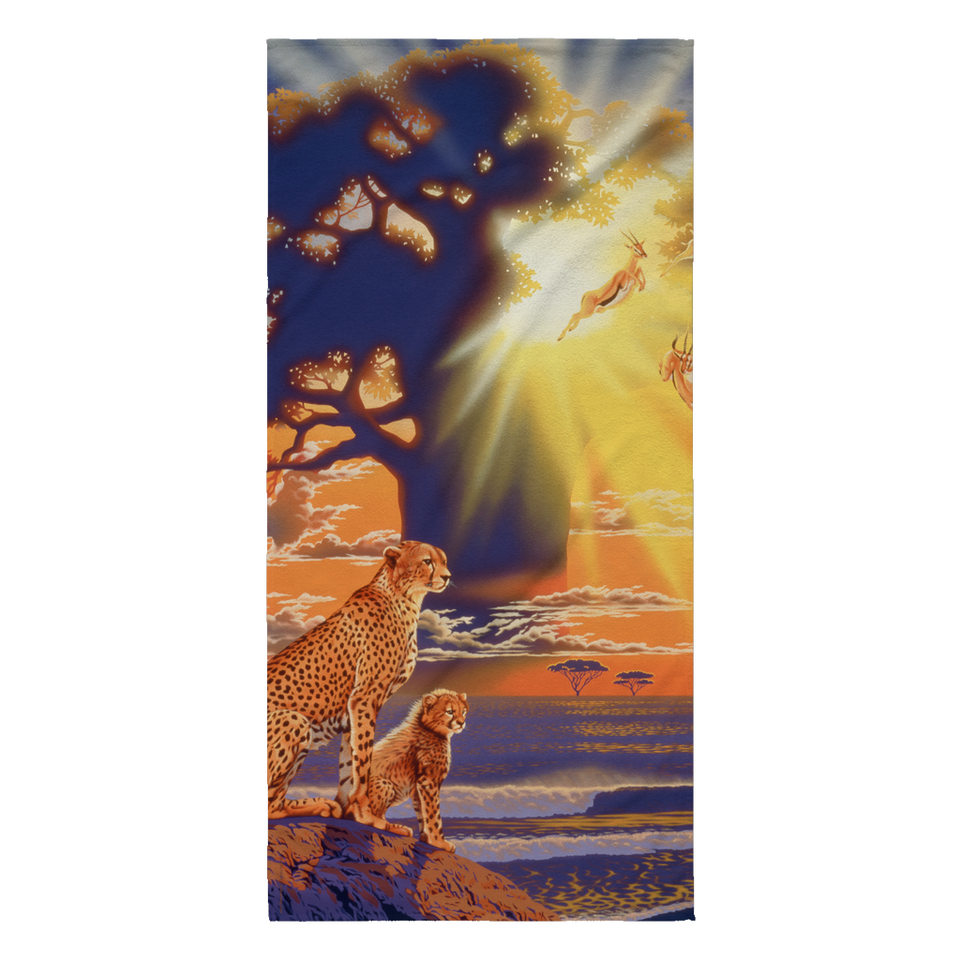 Beach Towel - Cheetahs - Morning Glow