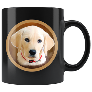 Mug Dog Labrador Black