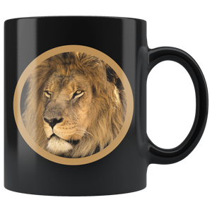 Lion coffee mug algarve online shop black variant