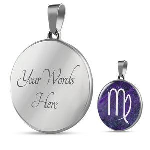 Zodiac Virgo Sign Horoscope Necklace