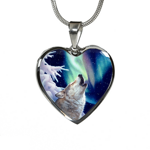 Holy Night Wolf  Necklace