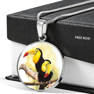 toucan jewellery - engraved necklace