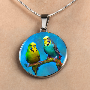 Budgie Parakeet Necklace for Women, Makes A Perfect  And Unique Gift For Bird Lovers.