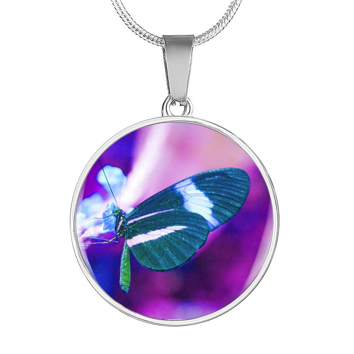 Butterfly Necklace Purple