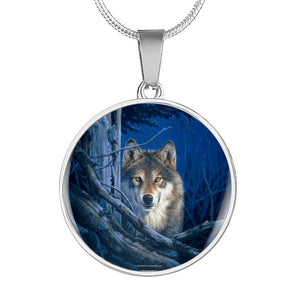 Wolf Necklace circle shape