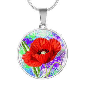 Poppies Flower Necklace