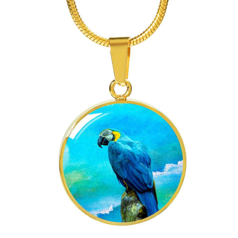 gold parrot necklace