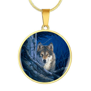 Wolf Necklace Moonshine