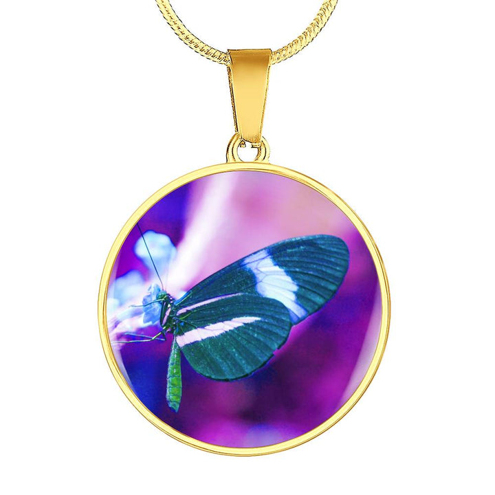 butterfly necklace gold 18k