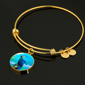 gold parrot bangle