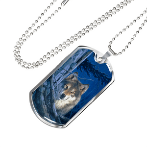 wolf necklace algarve online shop dog tag