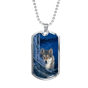 Wolf Necklace Men Moonshine