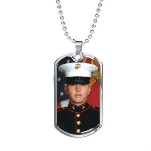 Personalized Military  Chain