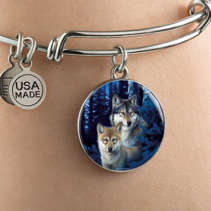 Wolf Bangle Bracelet - Mystic Canyon