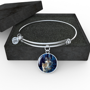 Bangle bracelet Wolf Lovers Gift Box