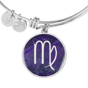 Zodiac Virgo Sign Bangle Bracelet