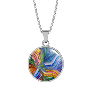 Music Rainbow Note Necklace
