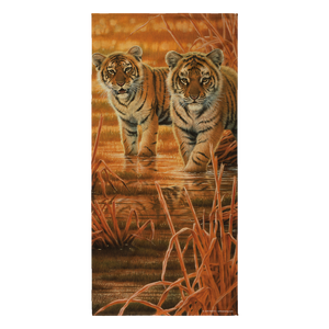 Beach Towel - Tigers - Morning Sun