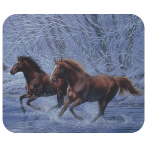 Mousepad horses in snow