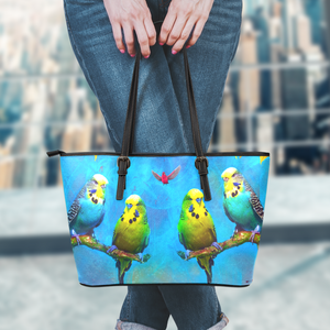 leather tote parakeet