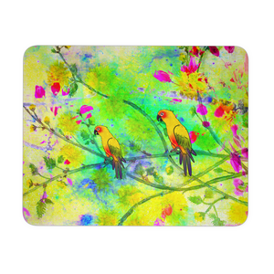 Mouse Pad Yellow Parrots