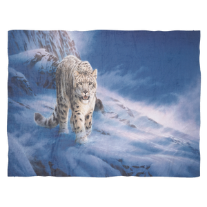 snow leopard fleece blanket large