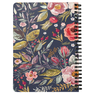 Spiral Bound Notebook Vintage Flowers