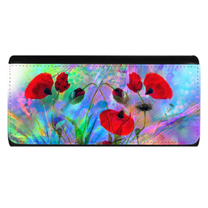 Abstract poppies Ladies Wallet