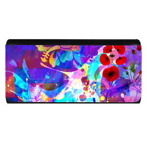 Abstract Purple Ladies Wallet