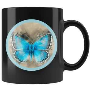 butterfly 11 oz ceramic coffee mug