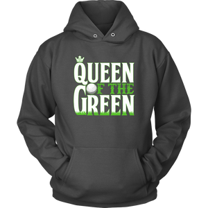 hoodie golf charcoal queen of the green