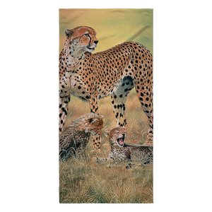 Beach Towel - Cheetahs - Peaceful Day