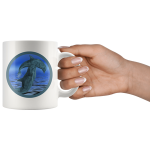dolphin mug hold in hand