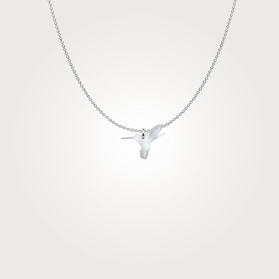 Humming Bird Sterling Silver Necklace