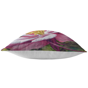 Pink Flower Pillow - Floral Pillow Covers