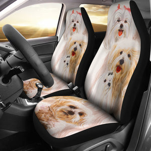 Car seat cover maltese